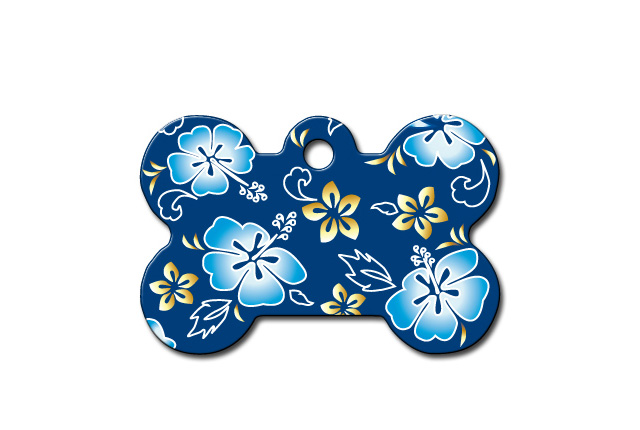 Premium - Bone Island Blue Flowered
